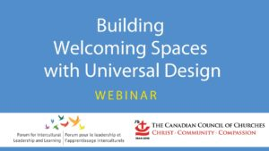 Building Welcoming Spaces with Universal Design. Click on image for youtube video.